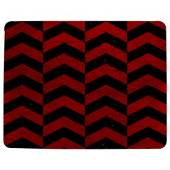 Chevron2 Black Marble & Red Leather Jigsaw Puzzle Photo Stand (rectangular) by trendistuff