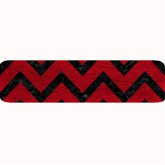 Chevron9 Black Marble & Red Leather Large Bar Mats by trendistuff