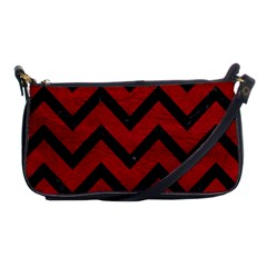 Chevron9 Black Marble & Red Leather Shoulder Clutch Bags by trendistuff