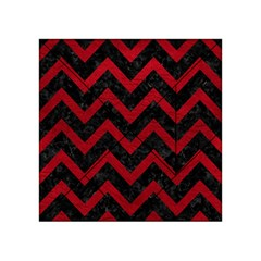 Chevron9 Black Marble & Red Leather (r) Acrylic Tangram Puzzle (4  X 4 ) by trendistuff