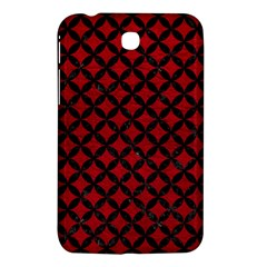 Circles3 Black Marble & Red Leather Samsung Galaxy Tab 3 (7 ) P3200 Hardshell Case  by trendistuff