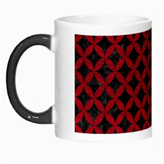 Circles3 Black Marble & Red Leather (r) Morph Mugs by trendistuff
