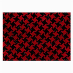 Houndstooth2 Black Marble & Red Leather Large Glasses Cloth by trendistuff