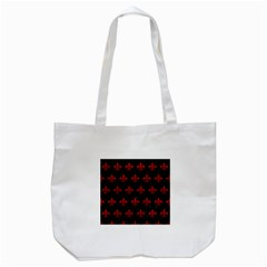 Royal1 Black Marble & Red Leather Tote Bag (white) by trendistuff