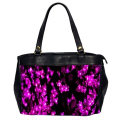 Abstract Background Purple Bright Office Handbags (2 Sides)  by Onesevenart