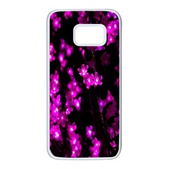 Abstract Background Purple Bright Samsung Galaxy S7 White Seamless Case by Onesevenart