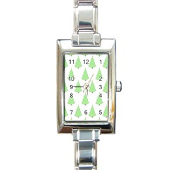 Background Christmas Christmas Tree Rectangle Italian Charm Watch by Onesevenart