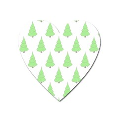 Background Christmas Christmas Tree Heart Magnet by Onesevenart