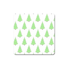 Background Christmas Christmas Tree Square Magnet by Onesevenart