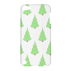 Background Christmas Christmas Tree Apple Ipod Touch 5 Hardshell Case by Onesevenart