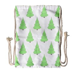 Background Christmas Christmas Tree Drawstring Bag (large) by Onesevenart