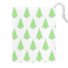 Background Christmas Christmas Tree Drawstring Pouches (xxl) by Onesevenart