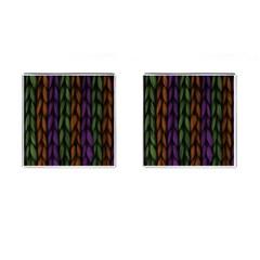 Background Weave Plait Purple Cufflinks (square) by Onesevenart