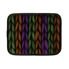 Background Weave Plait Purple Netbook Case (small)  by Onesevenart