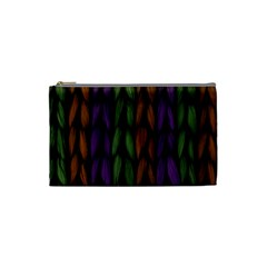 Background Weave Plait Purple Cosmetic Bag (small)  by Onesevenart