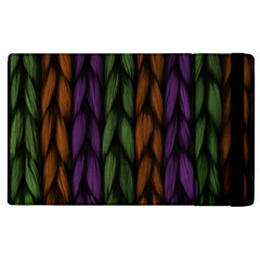 Background Weave Plait Purple Apple Ipad 3/4 Flip Case by Onesevenart
