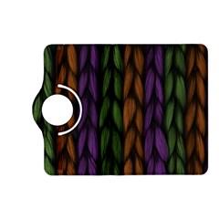 Background Weave Plait Purple Kindle Fire Hd (2013) Flip 360 Case by Onesevenart
