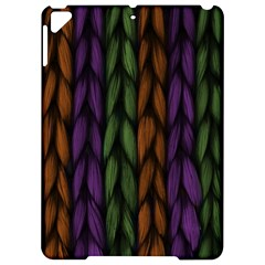 Background Weave Plait Purple Apple Ipad Pro 9 7   Hardshell Case by Onesevenart