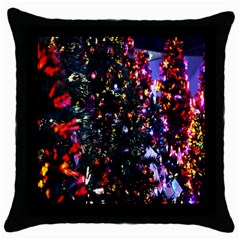 Abstract Background Celebration Throw Pillow Case (black) by Onesevenart