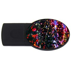 Abstract Background Celebration Usb Flash Drive Oval (4 Gb) by Onesevenart