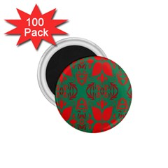 Christmas Background 1 75  Magnets (100 Pack)  by Onesevenart
