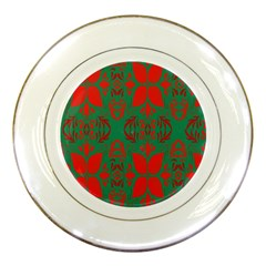Christmas Background Porcelain Plates by Onesevenart