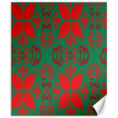 Christmas Background Canvas 8  X 10  by Onesevenart
