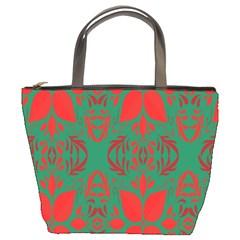 Christmas Background Bucket Bags by Onesevenart