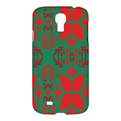 Christmas Background Samsung Galaxy S4 I9500/i9505 Hardshell Case by Onesevenart