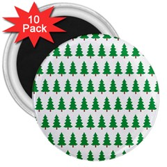 Christmas Background Christmas Tree 3  Magnets (10 Pack)  by Onesevenart