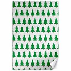 Christmas Background Christmas Tree Canvas 24  X 36  by Onesevenart