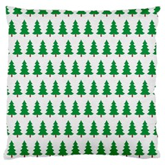 Christmas Background Christmas Tree Large Cushion Case (one Side) by Onesevenart