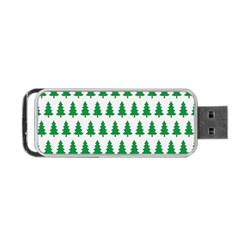 Christmas Background Christmas Tree Portable Usb Flash (one Side) by Onesevenart