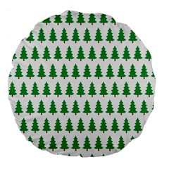 Christmas Background Christmas Tree Large 18  Premium Flano Round Cushions by Onesevenart