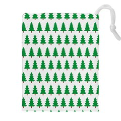 Christmas Background Christmas Tree Drawstring Pouches (xxl) by Onesevenart