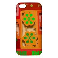Christmas Design Seamless Pattern Apple Iphone 5 Premium Hardshell Case by Onesevenart