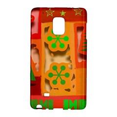 Christmas Design Seamless Pattern Galaxy Note Edge by Onesevenart