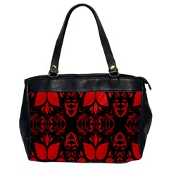 Christmas Red And Black Background Office Handbags by Onesevenart