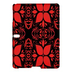 Christmas Red And Black Background Samsung Galaxy Tab S (10 5 ) Hardshell Case  by Onesevenart