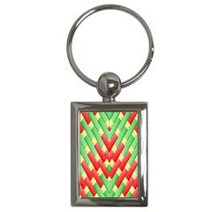 Christmas Geometric 3d Design Key Chains (rectangle)  by Onesevenart