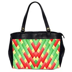 Christmas Geometric 3d Design Office Handbags (2 Sides)  by Onesevenart