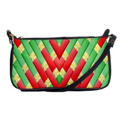Christmas Geometric 3d Design Shoulder Clutch Bags by Onesevenart