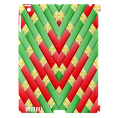 Christmas Geometric 3d Design Apple Ipad 3/4 Hardshell Case (compatible With Smart Cover) by Onesevenart