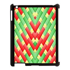Christmas Geometric 3d Design Apple Ipad 3/4 Case (black) by Onesevenart