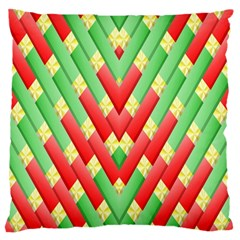 Christmas Geometric 3d Design Standard Flano Cushion Case (one Side) by Onesevenart