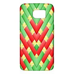 Christmas Geometric 3d Design Galaxy S6 by Onesevenart