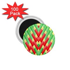Christmas Geometric 3d Design 1 75  Magnets (100 Pack)  by Onesevenart
