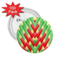 Christmas Geometric 3d Design 2 25  Buttons (100 Pack)  by Onesevenart