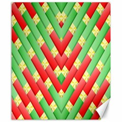 Christmas Geometric 3d Design Canvas 8  X 10  by Onesevenart
