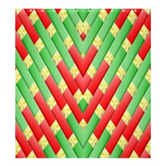 Christmas Geometric 3d Design Shower Curtain 66  X 72  (large)  by Onesevenart